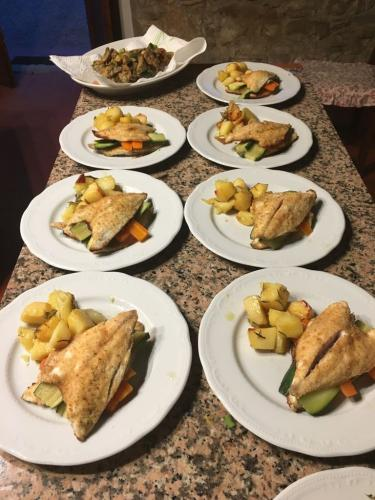 villa valentini-private dinner - Baked bream fillet with vegetables