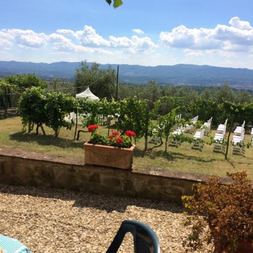 villa valentini-matrimonio-view from the garden